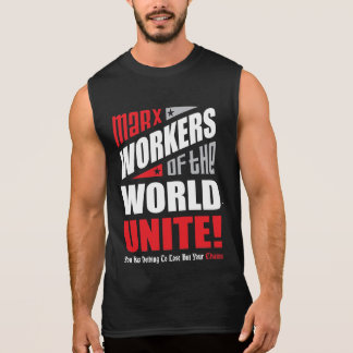 Karl Marx Workers of the World Unite Sleeveless Shirt