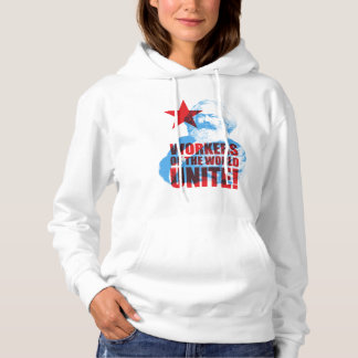 Karl Marx Workers of the World Unite! Slogan Hoodie