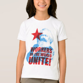 Karl Marx Workers of the World Unite! Slogan T-Shirt