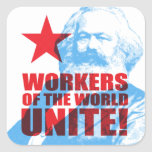 Karl Marx Workers of the World Unite! Sticker