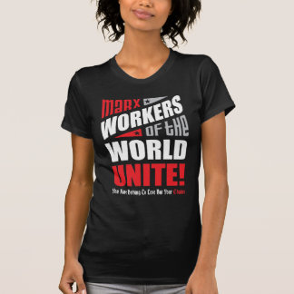 Karl Marx Workers of the World Unite Typographic T-Shirt