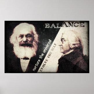 Karl Marx y Adán Smith, el zen de Póster