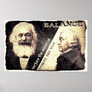 Karl Marx y Adán Smith, el zen de. (rasgón viejo) Póster