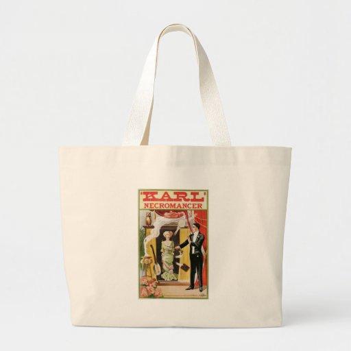 Karl ~ Necromancer Magician Vintage Magic Act Jumbo Tote Bag
