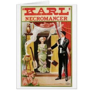 Karl ~ Necromancer Magician Vintage Magic Act Card