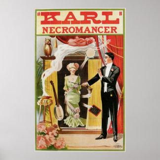 Karl ~ Necromancer Magician Vintage Magic Act Poster