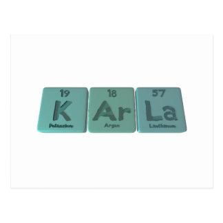 KArla  as Potassium Argon Lanthanum Postcard