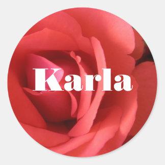 Karla Classic Round Sticker