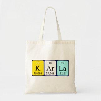 Karla periodic table name tote bag