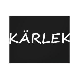 Kärlek, Swedish Love Canvas Print