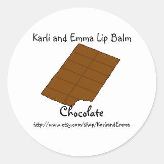 Karli and Emma Chocolate Lipbalm Classic Round Sticker