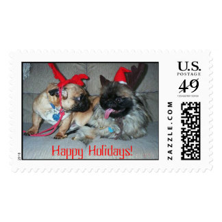 Karli & Bubba, Happy Holidays! Postage
