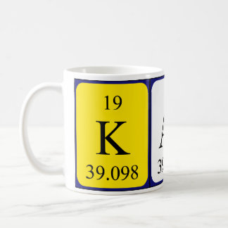 Karli periodic table name mug