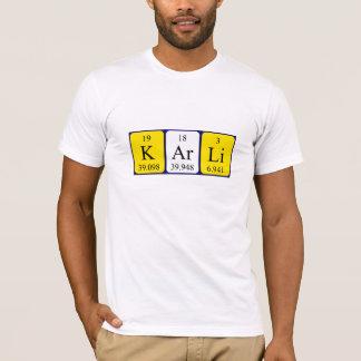Karli periodic table name shirt