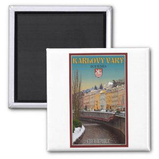 Karlovy varía - invierno del río de Semnice Iman De Nevera