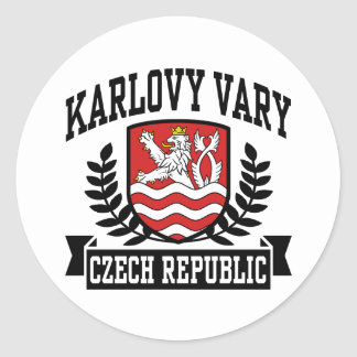 Karlovy varía pegatina redonda