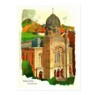 Karlovy Vary (Karlsbad) Synagogue Postcard
