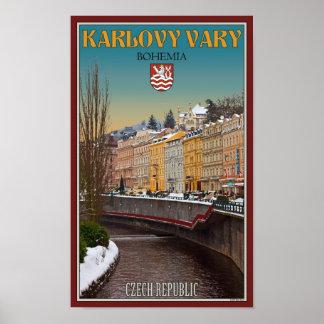Karlovy Vary - Semnice River Winter Poster