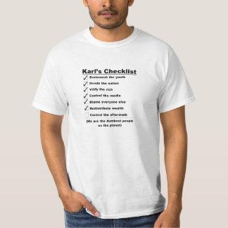 Karls Checklist Shirts
