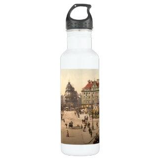 Karlsplatz and Railway Station, Munich, Germany Stainless Steel Water Bottle