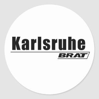 Karlsruhe Brat -A001 Classic Round Sticker