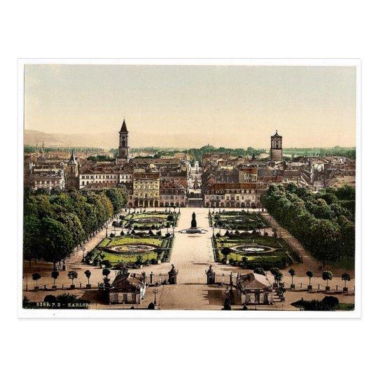Karlsruhe, general view, Baden, Germany magnificen Postcard