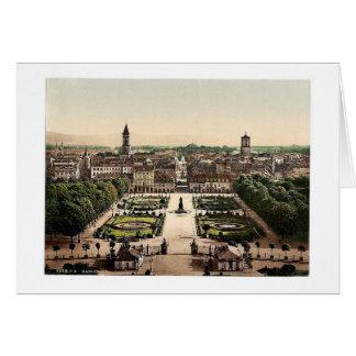 Karlsruhe, visión general, Baden, Alemania magnifi Tarjetas