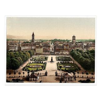 Karlsruhe visión general Baden Alemania magnifi Tarjetas Postales