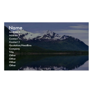 Karluk Lake and mountains Business Card Template