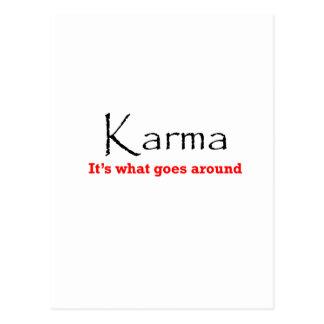 Karma 1 postcard