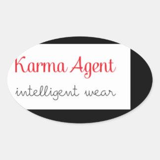 karma Agent - intelligent wear, positive energy Oval Sticker