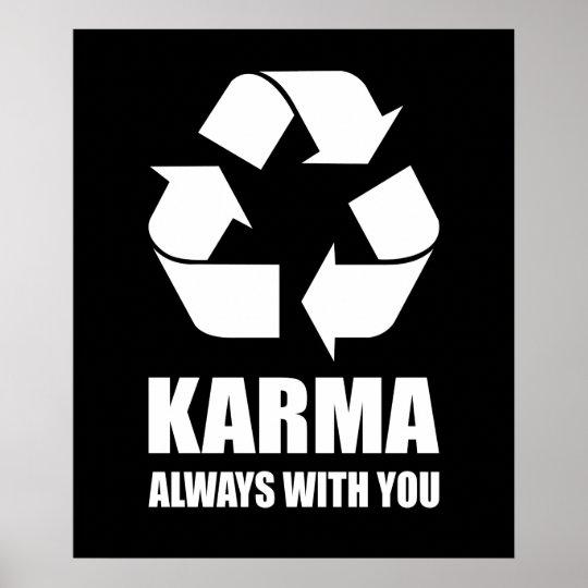 Karma Always With You Buddhist Buddha Funny Poster Zazzle