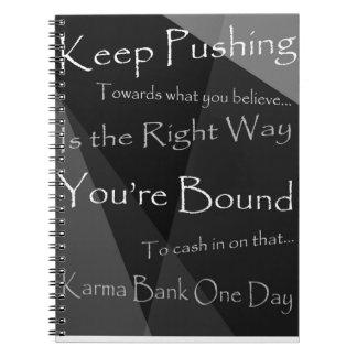 Karma Bank Spiral Note Books