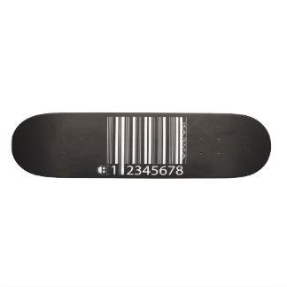 karma barcode skateboard deck