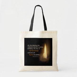 Karma - Blazing Fire - Self-knowledge Quote Bag