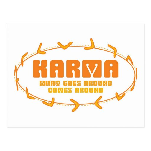 Karma Boomerang Post Cards