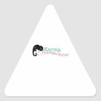 Karma Chameleon Triangle Sticker