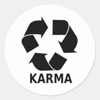 Karma Classic Round Sticker