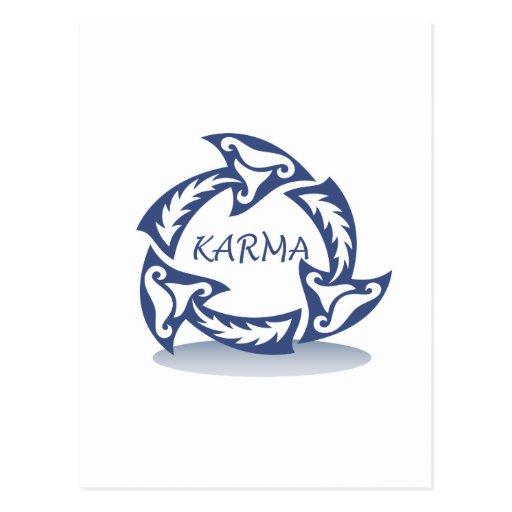 Karma design postcards