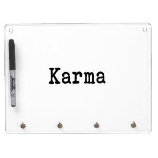 Karma Dry Erase Board With Keychain Holder