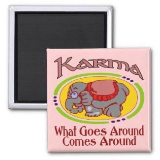 Karma Elephant magnet