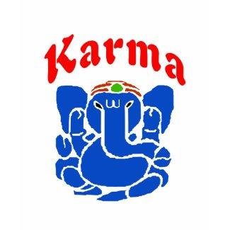 Karma Elephant, namaste, shirt