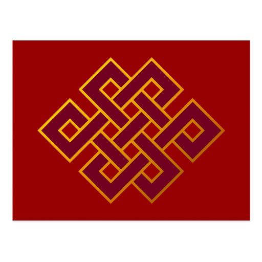 Karma ... Endless Knot or Eternal Knot Post Card