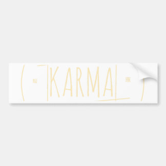Karma (For Dark Background) Bumper Sticker