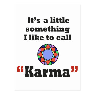 Karma gifts postcard