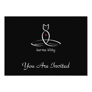 Karma Kitty - Fancy style text. Card