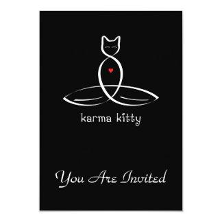 Karma Kitty - Fancy style text. 5x7 Paper Invitation Card