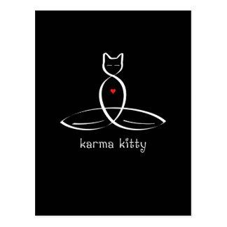 Karma Kitty - Fancy style text. Postcard