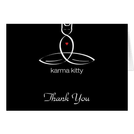 Karma Kitty - Regular style text. Card