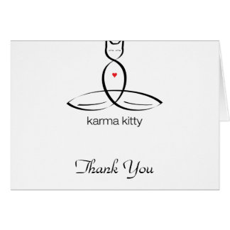 Karma Kitty - Regular style text. Stationery Note Card